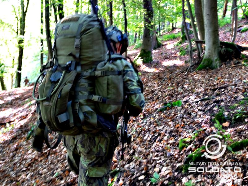 Vojenský batoh v akci