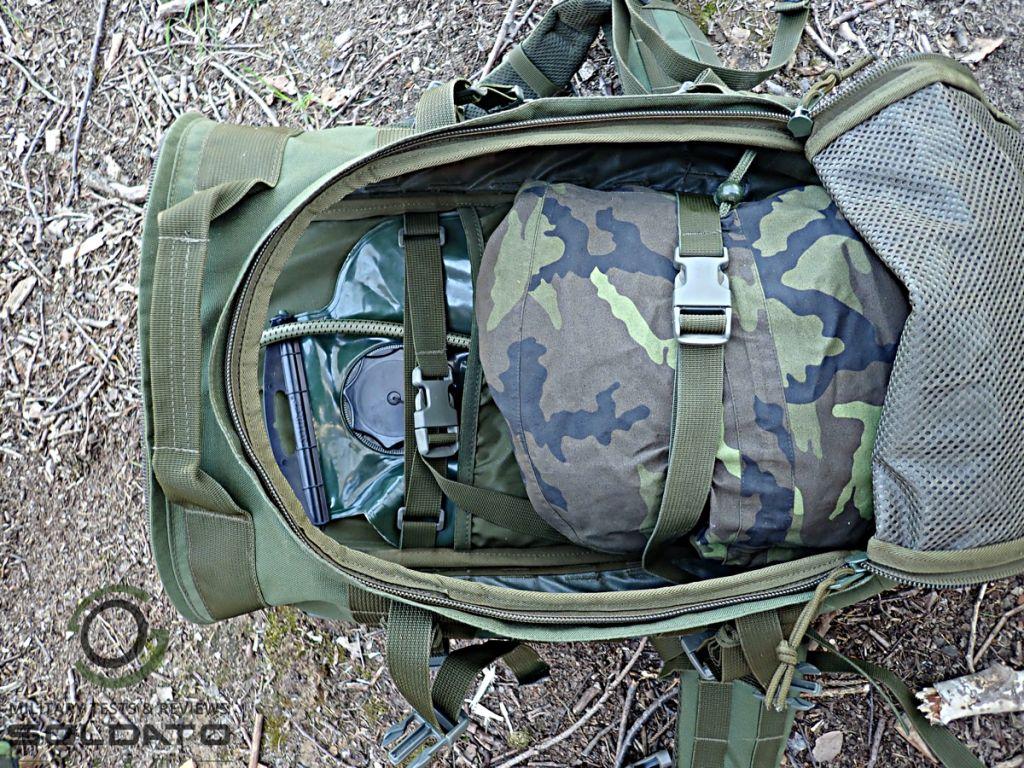Vnitřní uspořádání batohů