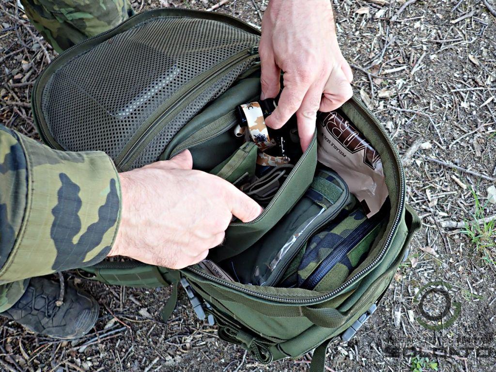 Vnitřní kapsy batohu