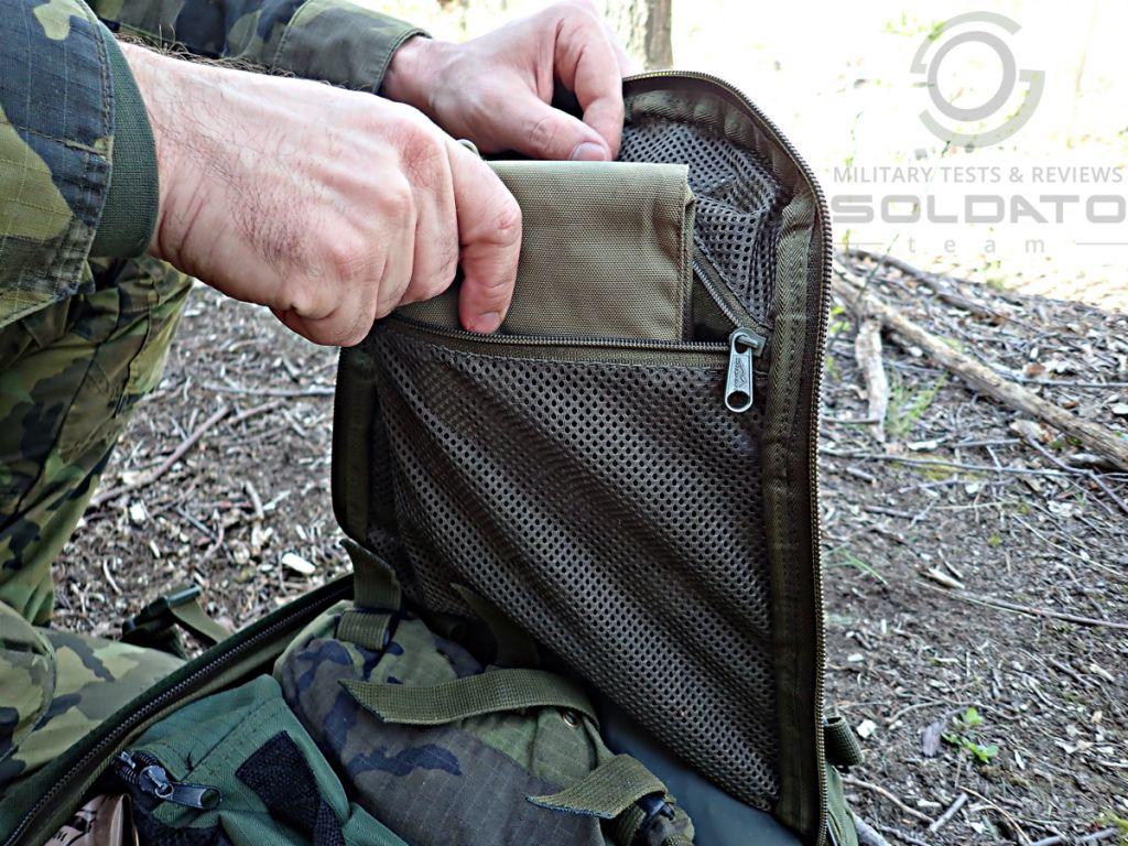 Administrace vybavení v batohu