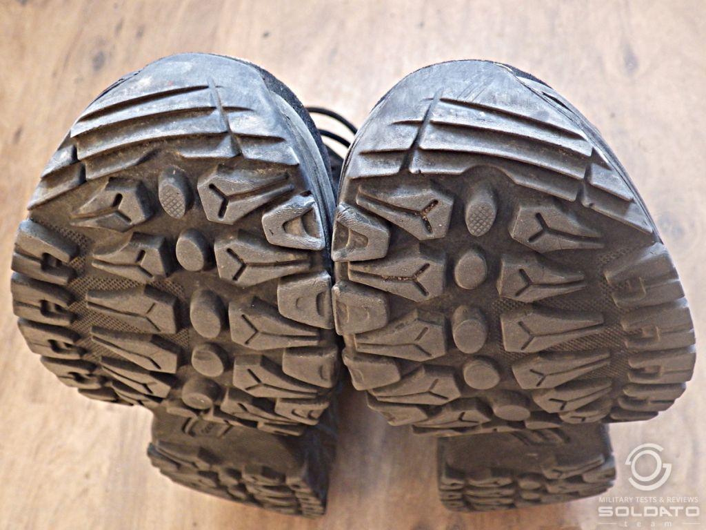 Výdrž vojesnké obuvi