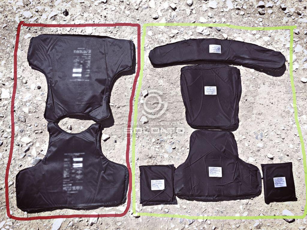 Balistická ochrana do taktické vesty měkká balistika