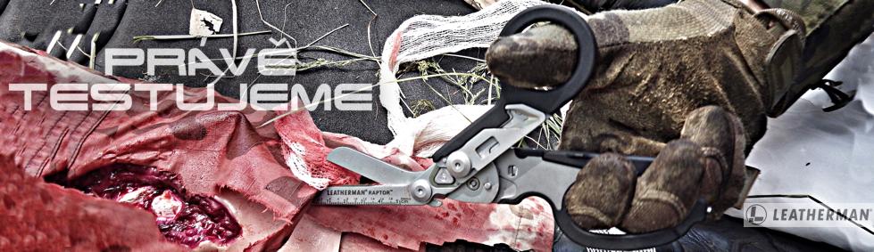 Právě testujeme záchranářské nůžky Leatherman Raptor