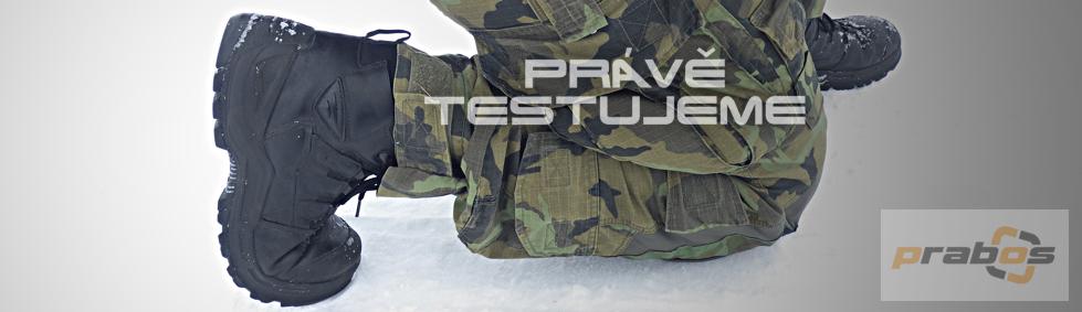 SOLDATO team právě testuje obuv Prabos Beast