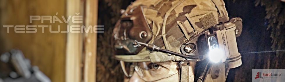 Vojenský pohled na čelovku Sidewinder