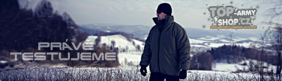 Zimní bunda pohledem vojáků v testu