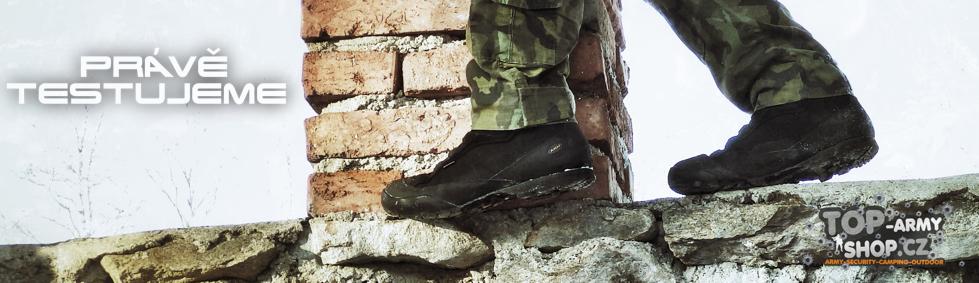 Nové vojenské taktické boty pro vojáky